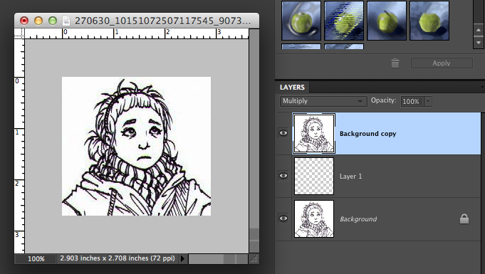Drawing Lines In Photo Elements : How to color a scanned drawing using photoshop elements