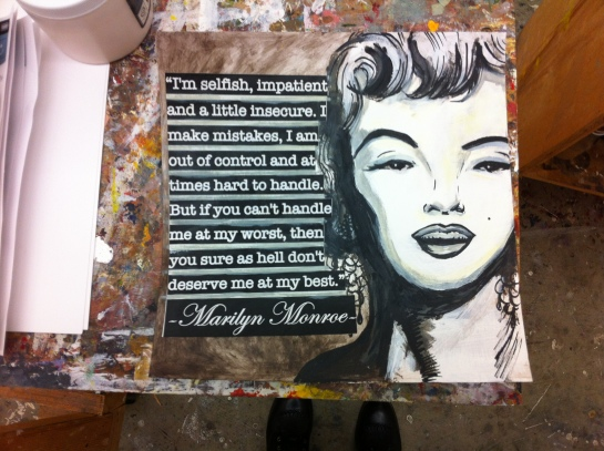 The obligatory Marilyn Monroe quote.