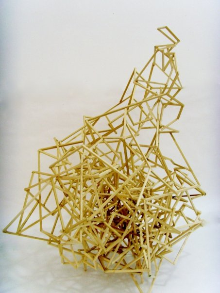 Untitled, wooden sticks and hot glue, 2009.