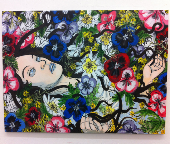Larded with Sweet Flowers, 2013, acrylic paint.