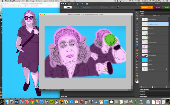 Coloring on Photoshop Elements.