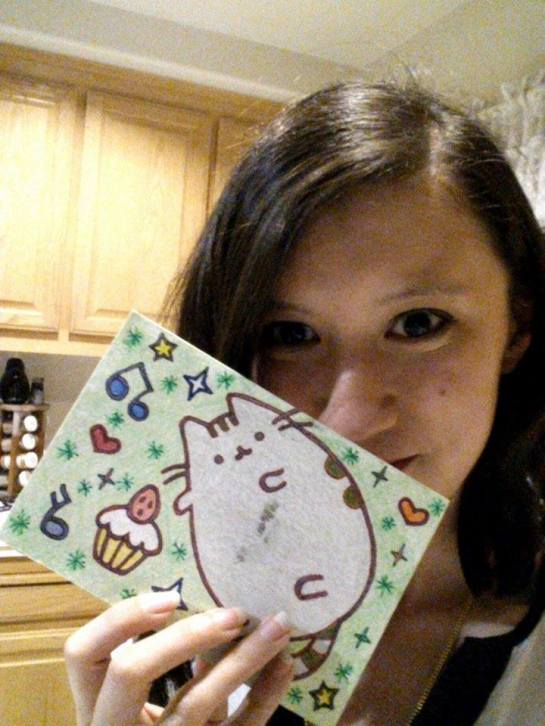 For Christina M., a huuuugggggeeeee Pusheen the Cat lover/frequent user.