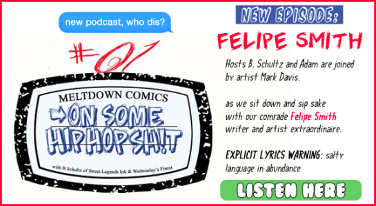 """Really proud of that text bubble (""""new podcast, who dis?"""") I made."""